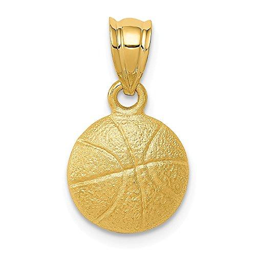 - Real 14kt Yellow Gold Basketball Charm