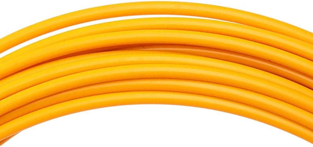Extractor de Cables 30m 6mm Cable de Fibra de Vidrio el/éctrico Extractores de Empuje Carrete de Cable Amarillo Conducto Serpiente Rodder Cinta de Pescado Herramienta de Ayuda para enhebrar Cables