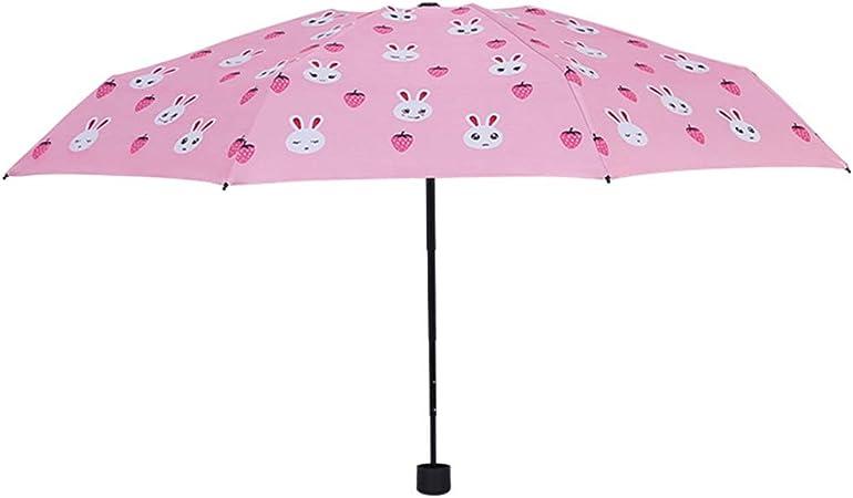 JUNDY Paraguas Compacto y Resistente al Viento, Paraguas Plegable, Conveniente para Viajes Paraguas Ultraligero audaz y ventoso 8 Huesos Cinco Veces color7 96cm: Amazon.es: Hogar