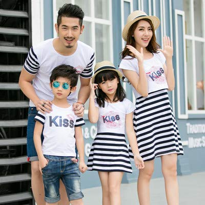 55cf2d7ab4b7 2018 Summer mom and Daughter Dress Matching Mother Daughter Clothes Dresses  Outfits Father and Son Clothes t-Shirts Family Look   White