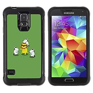 "Pulsar iFace Series Tpu silicona Carcasa Funda Case para Samsung Galaxy S5 V , Animal de la historieta León Verde"""