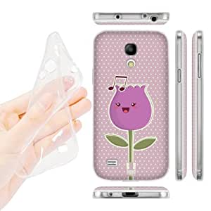 DIY Case Designs Violet Bud Kawaii Singing Flowers Soft Gel Back Case Cover for Samsung Galaxy S4 mini I9190 Duos I9192 by ruishername