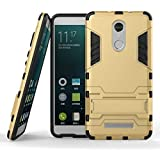 Nik Case Military Grade Defender Series Dual Protection Layer Hybrid TPU + PC Kickstand Case Cover for Redmi Xiaomi Note 4 (Rubber, Plastic) Gold