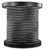 150 ft. Spool - Rayon Antique Wire - Black - 18/2 SPT-1 - Parallel Cord