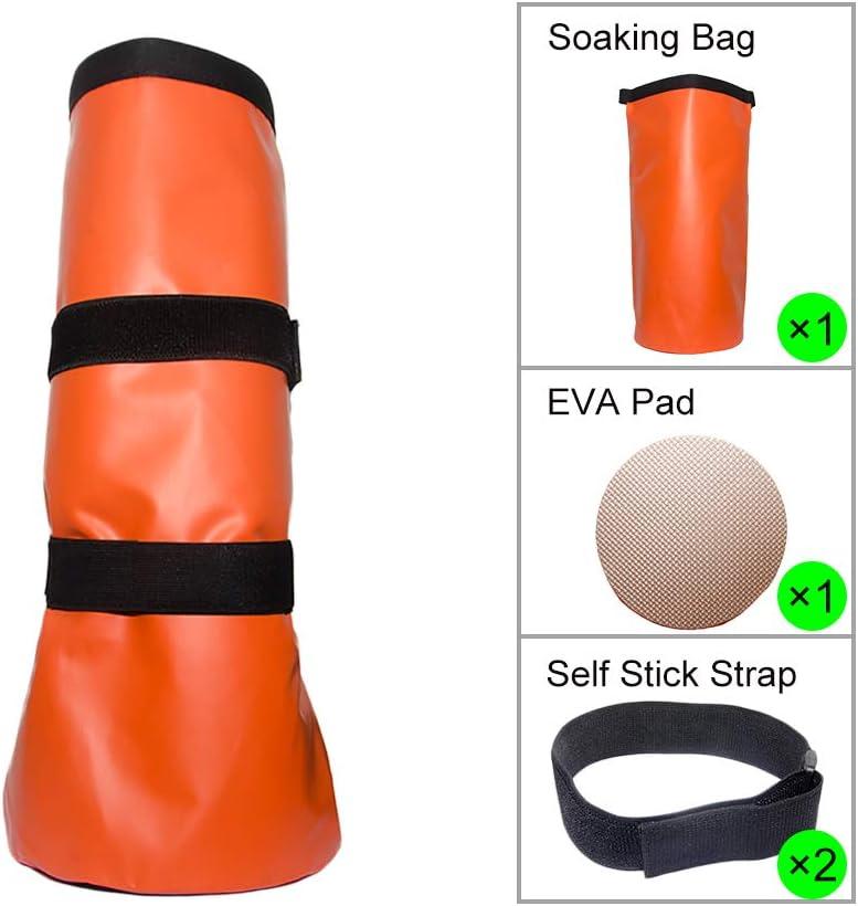 Tactical Element - Bolsa para jabón de Caballo de Aves de Corral para jabón de Agua fría o Caliente, Incluye Almohadilla de Goma EVA y Correas Autoadhesivas