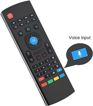 LESHP Mando Inalámbrico Teclado 2 en 1 (2.4GHz, Teclado QWERTY, Recptor USB, para Android TV PC), Ratón Aéreo: Amazon.es: Electrónica