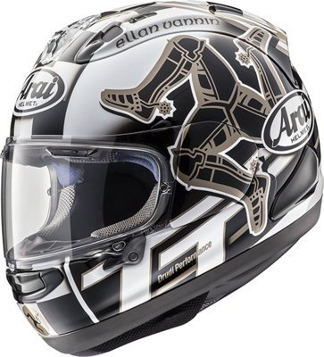Arai Corsair X Helmet - Isle Of Man 2017 (X-LARGE) (BLACK/WHITE)