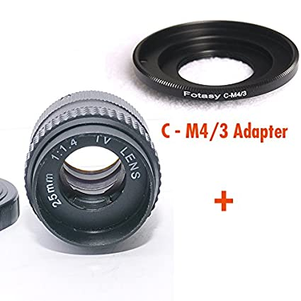 Fotasy M2514 25MM F1.4 TV Movie Lens and Lens Adapter Kit