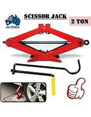 Alextreme Australian Local delivery 2000KG 2T Wind Up Scissor Jack Lift for Car Van Garage with Handle Emergency