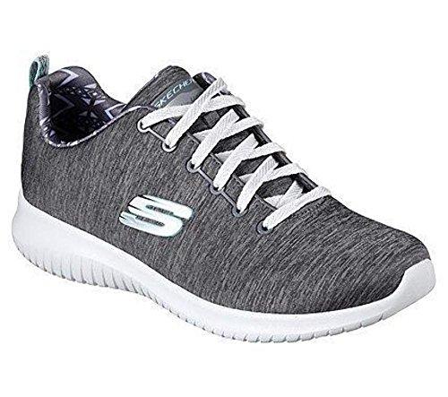 Skechers Damen Ultra Flex-First Choice Sneaker Grau