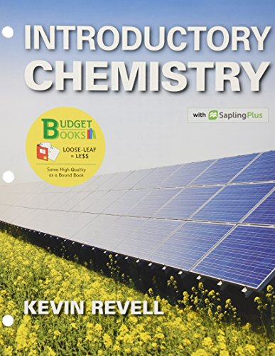 Book cover from Loose-Leaf Version for Introductory Chemistry & SaplingPlus for Introductory Chemistry (Twelve Months Access) & iClicker Reef Polling (Twelve Months Access; Standalone) by Kevin Revell