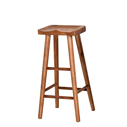 Amazoncom Xingping Log Bar Chair Antique Old Solid Wood Bar Stool