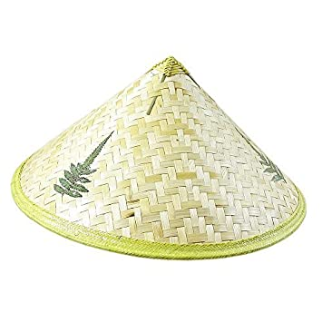 d780fc816845f3 Sunny Hill (TM) Chinese Oriental Bamboo Straw Cone Garden Fishing Hat Adult  Rice Hat