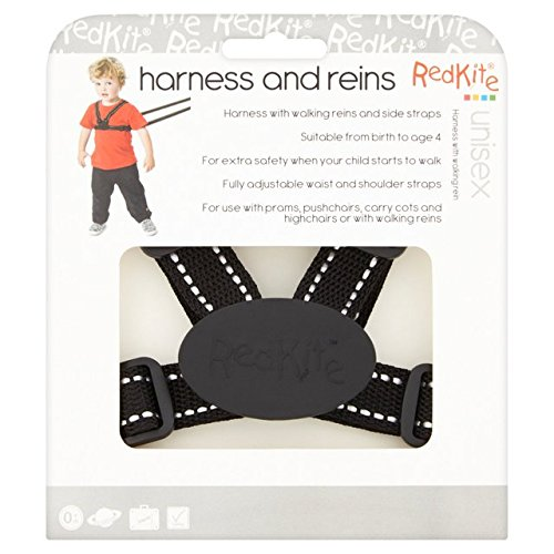 Red Kite Harness and Reins Black Reflective HR300