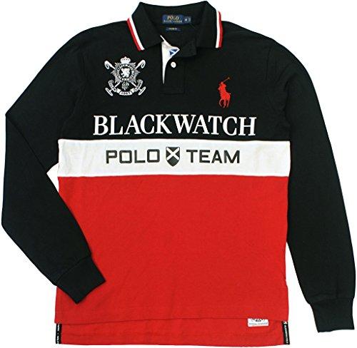 Polo Ralph Lauren Black Watch (Polo Ralph Lauren Men's Custom-Fit Blackwatch Long Sleeve Polo, Polo Black, X-Large)