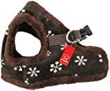 Puppia Authentic Snowflake Harness B, Small, Brown, My Pet Supplies