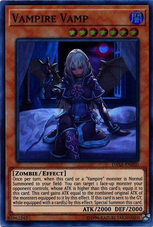 Amazon.com: Yu-Gi-Oh! Vampire Vamp – DASA-EN050 – Super Rara ...