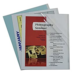 C-Line Clear Report Covers Only, Vinyl, For Use with Slide \'N Grip Binding Bars, 8.5 x 11 Inches, 100 per Box (31357)