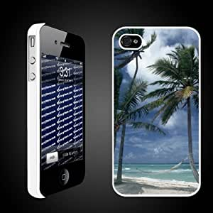 Beach Theme Designs Hammock on the Beach Protective Case for iPhone 4/4S - Clear
