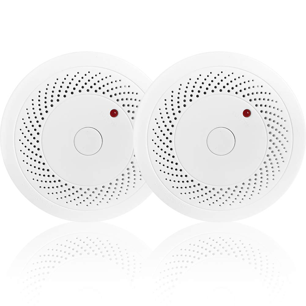 Combination Photoelectric Smoke Alarm and Carbon Monoxide Detector, Protect Your Home from Fire and Gas Leaks, Even When You're Away, 9V Battery Operated (Two Pack) by vitowell