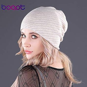 1b23b3c9b8484 Amazon.com: [HOKUGA] genuine soft cashmere gold line knitted women's ...