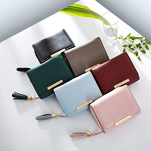 Hand Color Simple Green Tassel New Mini Wallet S Bag Size Fashion held Purse Women's Black Buckle Card 1wx4nBq