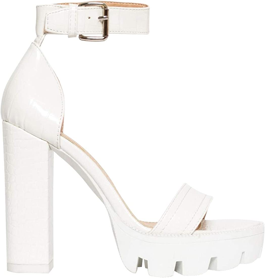 white high heels open toe