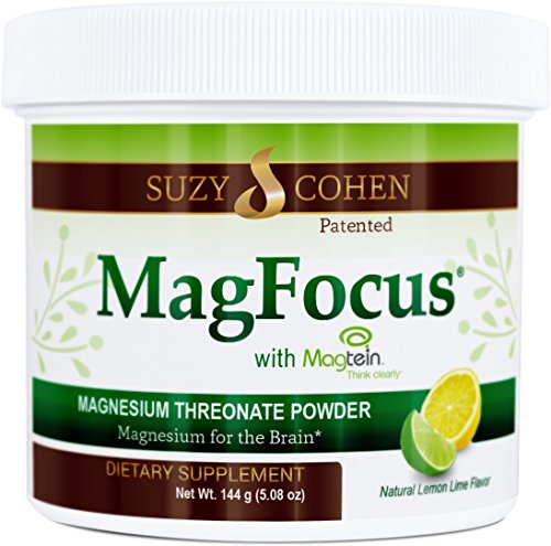 (MagFocus - Lemon Lime Flavored Magnesium Threonate Powder - 60 Servings - by Suzy Cohen, RPh.)