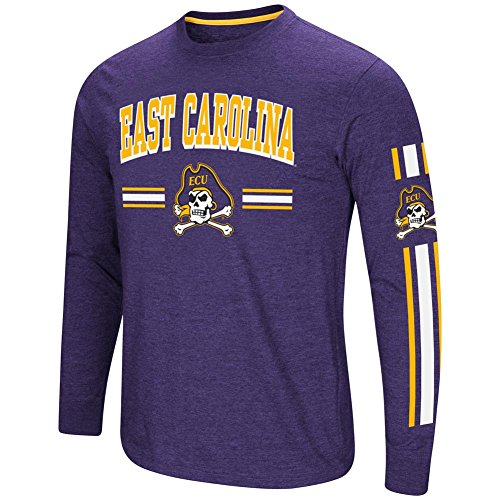 Colosseum ECU East Carolina University Men's Long Sleeve Touchdown Pass Tee (XX-Large)