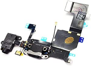 ePartSolution_iPhone 5S Black USB Charger Charging Port Dock Connector Flex Cable USB Port Replacement Part USA