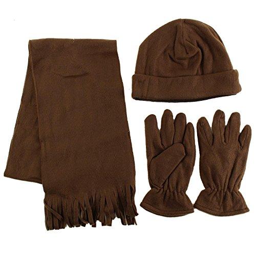 Thick Fleece Beanie Hat Gloves