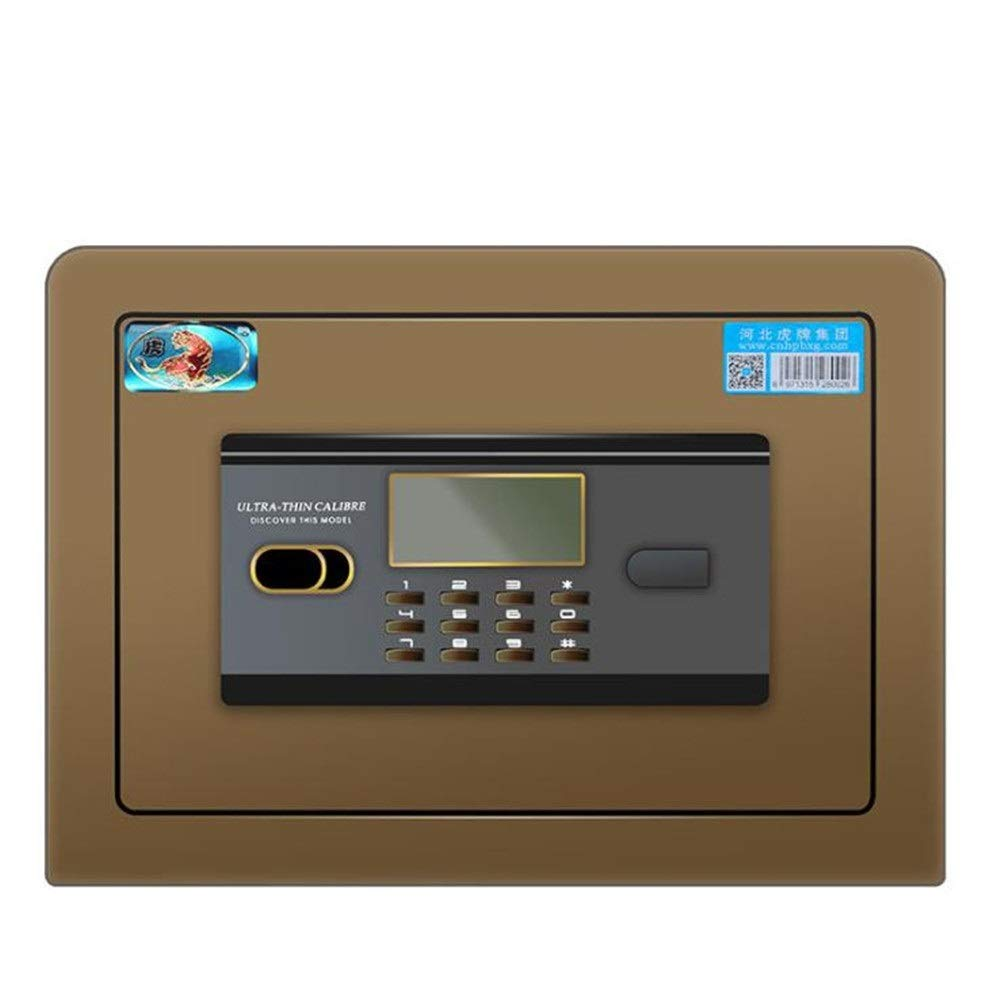 Basics Security Safe Mini Size Steel Alloy Safe Box Fingerprint Keypad Lock Fireproof Waterproof Security Cabinet For Home Office Hotel Business Jewelry Cash Money Documents File Fireproof Safe and Wa