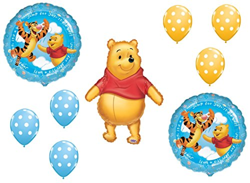 DalvayDelights Winnie The Pooh Baby BOY Shower Welcome Little One Balloons Bouquet Party Decor]()