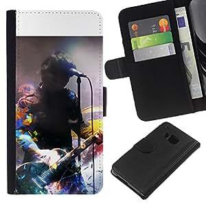 KingStore / Leather Etui en cuir / HTC One M7 / Firma Música Artista