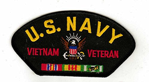 Navy Vietnam Veteran HMC Black Hat Patch