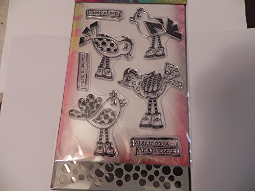 Dylusions Stamps & Stencil, Holy Birds