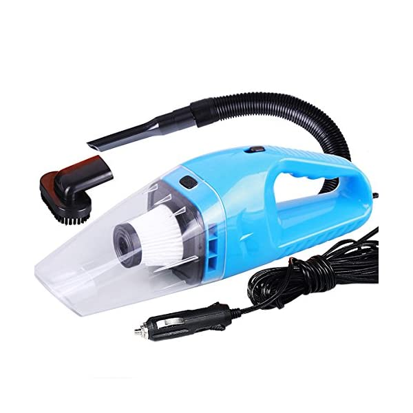 Car Vacuum Cleaner High Power Vacuum Portable Mini Wet Dry Vacuum Cleaner For Car Truck SUV Desktop Dust Buster Crumbs Cleaner With 124Foot 38Meter Cord 4000PA 120W 12V Blue NUWA