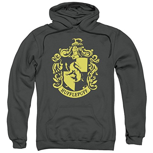 Hoodie: Harry Potter- Hufflepuff Crest Pullover Hoodie Size ()