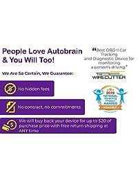Autobrain OBD GPS de seguimiento personal y de negocio en tiempo real, Negro