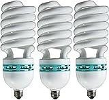 Eiko 81180 - SP105/50/MED Medium Screw (E26) Natural White High Watt Spiral Compact Fluorescent Light Bulb - Pack of 3