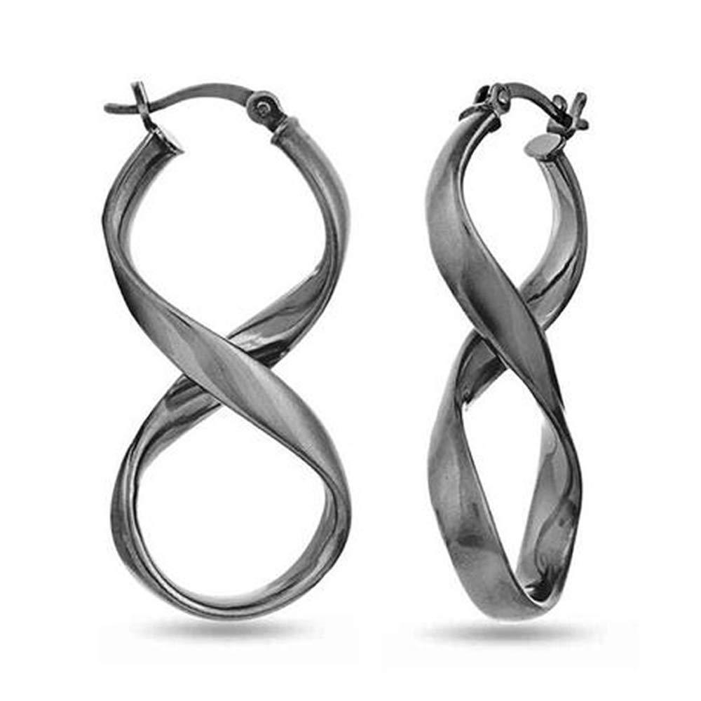 LeCalla Sterling Silver Jewelry Figure Eight Earrings for Women