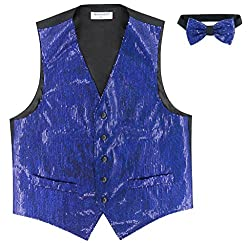 Sequin Design Vest & Bow Tie