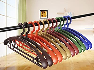 GFYWZ Plastic Wide shoulder Can be rotated Sturdy Non-slip Hanger Clothing store Suit Coat Adult Hangers (pack of 10)