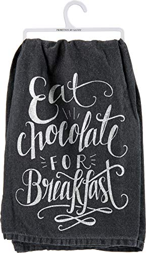 (Primitives by Kathy Kitchen Towel -Eat Chocolate for Breakfast)