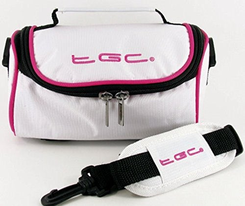 TGC, Sac pour Femme à Porter à l'épaule Noir Jet Black with Dreamy Blue Trims Cool White With Hot Pink Trims