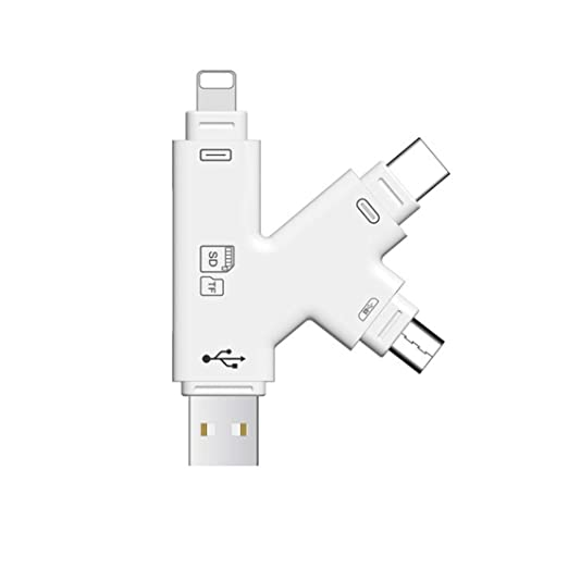 Lector de Tarjetas SD, Micro SD TF USB C Lector iPad Android ...