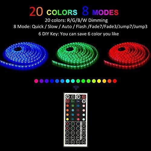 LEN Led Strip Lights 16.4 Feet Waterproof 150LEDs 5050 RGB Light Strip Complete Kit by LEN (Image #6)