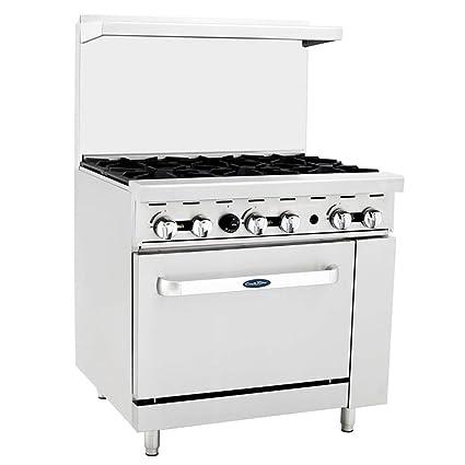 9e7d35fd4bb Amazon.com  ATOSA US ATO-6B Commercial Restaurant Range 6 Burner Hotplates  Cooks Stainless Steel Standard Oven 36