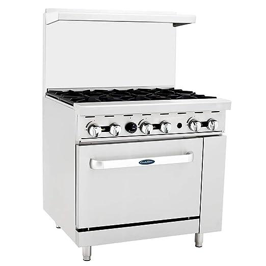 CookRite - Juego de 6 platos de cocina (gas natural, con horno ...