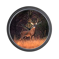 CafePress - Whitetail Deer Wall Clock - Unique Decorative 10 Wall Clock
